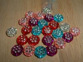 25 Stuks mooi ronde platte gekleurde kralen