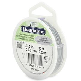 Beadalon Rijgdraad 7 draads 0.38mm Satin Silver