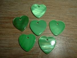 Mooie hangertjes in de vorm van een groen hartje