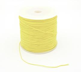 Macrame draad 0.8 mm. sunshine geel per meter