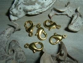 Mooie goudkleurige karabijnsluitingen 16 mm.