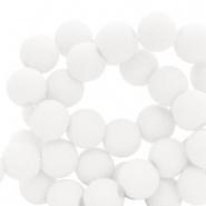 60 stuks Acryl kralen Wit mat 6mm