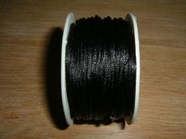 Satijnkoord in een mooie zwarte kleur