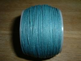 Waxkoord in een mooie petrol blauwe metallic kleur 0.5 mm.