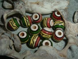 Mooie ronde indianenkralen van 9 mm.