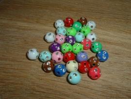 20 Stuks mooie glitterballen in mixkleuren.