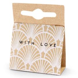 Sieraden kaartjes  'with love'