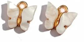 Bedel vlinder goud Wit