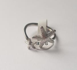 Must have ringen in zilverkleur met zeesterren