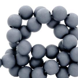 50 stuks Acryl kralen mat concrete grijs 8mm.