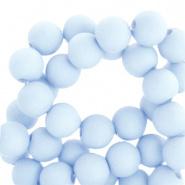 60 stuks Acryl kralen Licht blauw mat 6mm