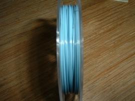 Gecoat staaldraad 0.45 mm. in de kleur lichtblauw