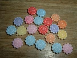 Mooie pastelkleurige bloemetjes mix