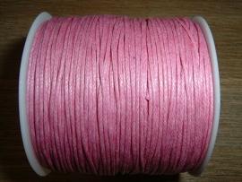 Waxkoord in een mooie roze kleur 1.0 mm.