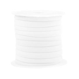 Gestikt elastisch lint Wit