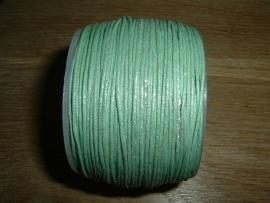 Waxkoord in een mooie licht turquoise metallic kleur 0.5 mm.
