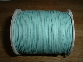 Waxkoord licht saffier blauw 1.0 mm.