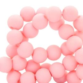 60 stuks Acryl kralen Seashell pink mat 6mm