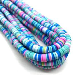 Katsuki kralen 6 mm mix blauw per streng