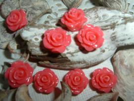 Mooie glanzende hardroze roosjes