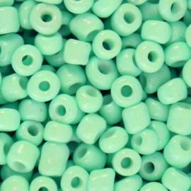 Glaskralen Rocailles 4mm Green ash 20 gram