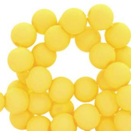 100 stuks Acryl kralen Geel 4mm.