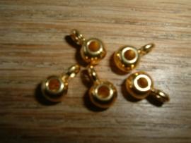 Mooie DQ metalen hangertjes met oogje voor 2 mm.