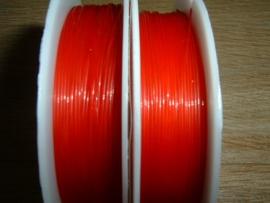 Elastisch nylondraad rood 0.6 mm.