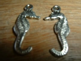 Mooie antique zilverkleurige hangertjes van een zeepaardje van 22 mm.