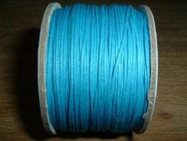 Waxkoord aquablauw 0,5 mm.