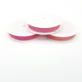 Nylondraad roze 1,0 mm (elastisch)