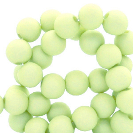50 stuks Acryl kralen mat lime groen 8mm.