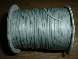 Waxkoord in een mooie zilver metallic kleur 1.0 mm.