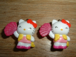 Superleuke Hello Kitty hangertjes met waaier