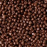 Glaskralen Rocailles  Chocolate brown 2 mm. 20 gram