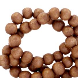 35 stuks Houten kralen rond 6mm Hazel brown