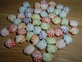 Mooie gekleurde Hello Kitty gezichtjes mix (klein)