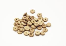 50 Stuks mooie beige bruine kokos kralen disc 8 mm.