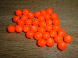 Mooie fluor oranje Buri zaden van 8 mm.