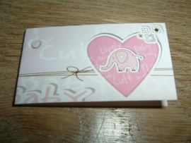 Mini kaartjes roze hartje