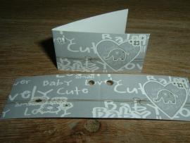 Mini kaartjes grijs met hartje