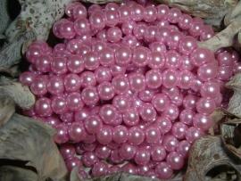 50 Stuks mooie roze glasparels 6 mm.
