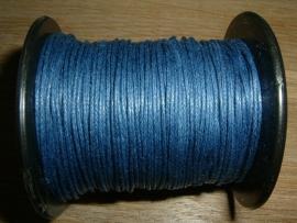 Waxkoord in een mooie marine blauwe kleur 0.5 mm.