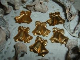 Leuke goudkleurige kerstklokjes