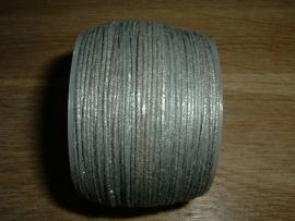 Waxkoord in een mooie grijze metallic kleur 0.5 mm.