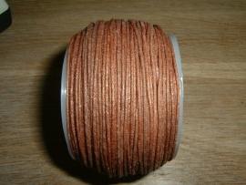 Waxkoord in een mooie koperbruine metallic kleur 0.5 mm.