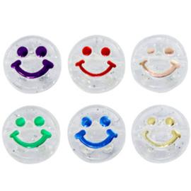 Letterkralen smiley transparant 10 stuks