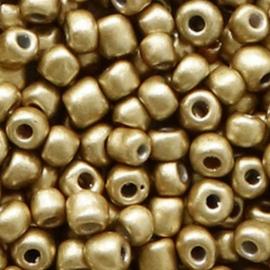 Glaskralen Rocailles 4mm Restrained Goud 20 gram