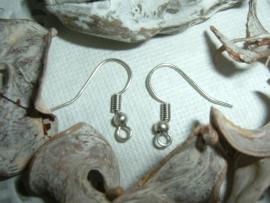 10 Stuks mooie antiek zilverkleurige oorbelhaakjes
