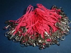10 Stuks fuchsia gekleurde telefoonkoordjes